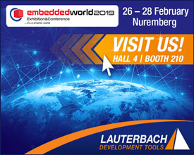 Visit us at the embedded world